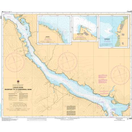 Atlantic Region Charts :CHS Chart 4395: LaHave River - Riverport to/à Conquerall Bank