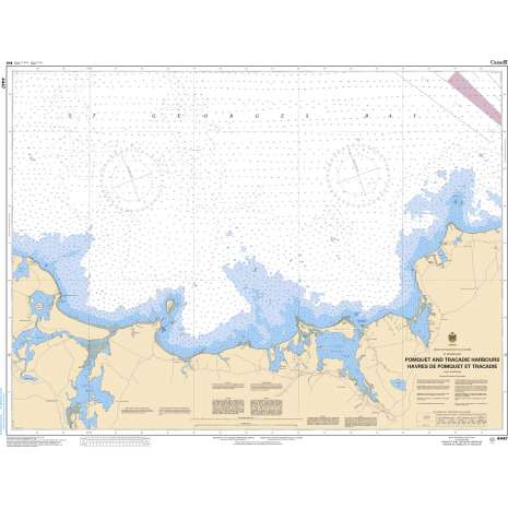 Atlantic Region Charts :CHS Chart 4447: Pomquet and Tracadie Harbours