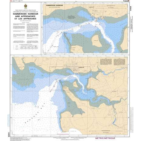 Atlantic Region Charts :CHS Chart 4459: Summerside Harbour and Approaches/et les approches