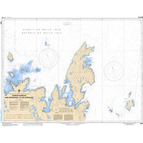 Atlantic Region Charts :CHS Chart 4512: Quirpon Harbour and Approaches/et les approches
