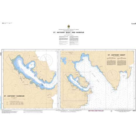 Atlantic Region Charts :CHS Chart 4514: St. Anthony Bight and Harbour