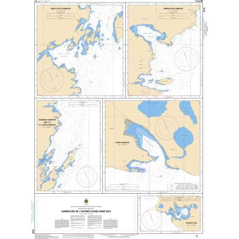 Atlantic Region Charts :CHS Chart 4516: Harbours in / Havres dans Hare Bay