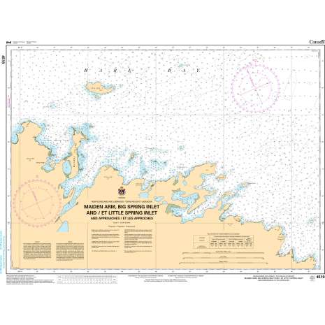 Atlantic Region Charts :CHS Chart 4519: Maiden Arm, Big Spring Inlet and/et Little Spring Inlet (and approaches/et les approches)