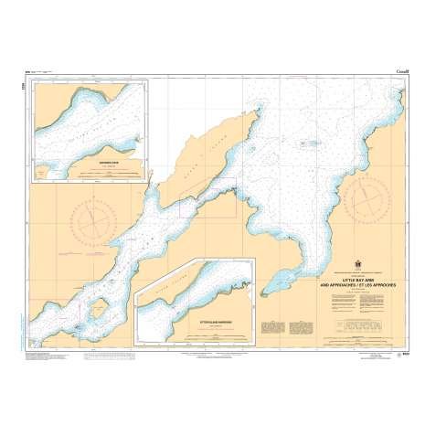 Atlantic Region Charts :CHS Chart 4523: Little Bay Arm and Approaches / et les approches