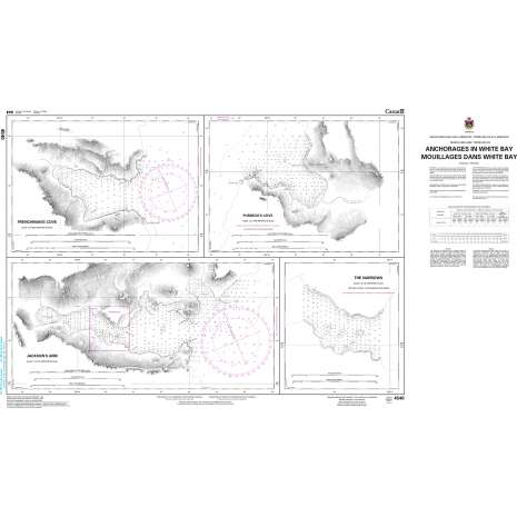 Atlantic Region Charts :CHS Chart 4540: Anchorages in White Bay/Mouillages dans White Bay