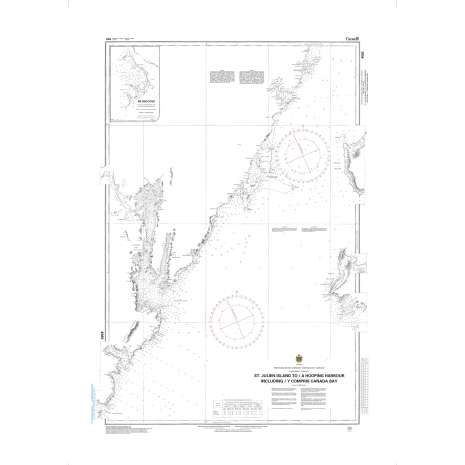 Atlantic Region Charts :CHS Chart 4583: St. Julien Island to/à Hooping Harbour including/y compris Canada Bay