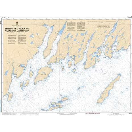 Atlantic Region Charts :CHS Chart 4615: Harbours in Placentia Bay Petite Forte to Broad Cove Head