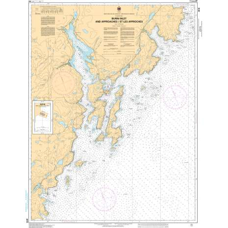 Atlantic Region Charts :CHS Chart 4616: Burin Harbours and Approches / et les approches
