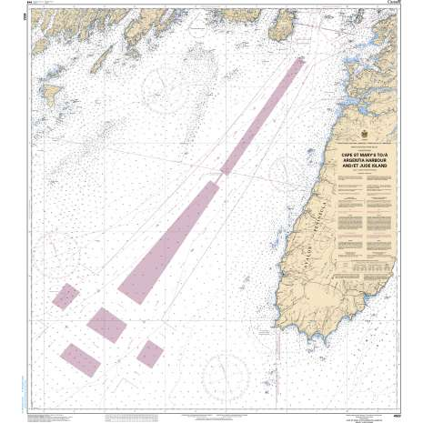 Atlantic Region Charts :CHS Chart 4622: Cape St. Mary's to/à Argentia Harbour and/et Jude Island