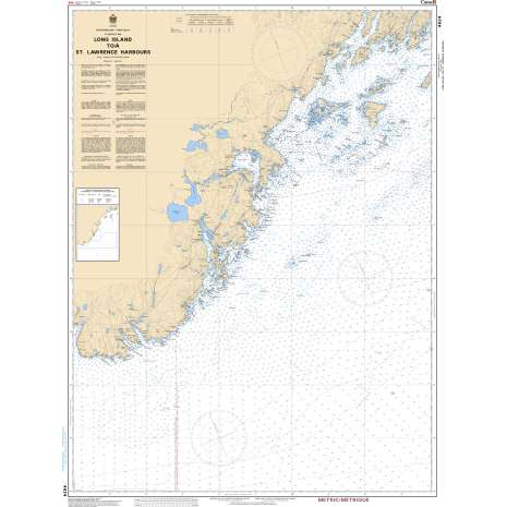 Atlantic Region Charts :CHS Chart 4624: Long Island to/à St. Lawrence Harbours