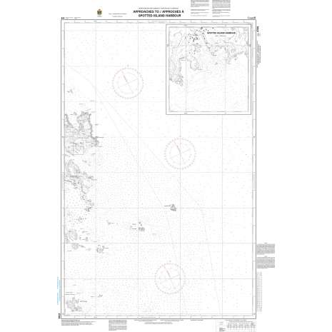 Atlantic Region Charts :CHS Chart 4744: Approaches to/approches à Spotted Island Harbour