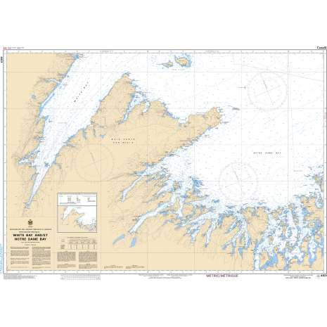 Atlantic Region Charts :CHS Chart 4821: White Bay and/et Notre Dame Bay