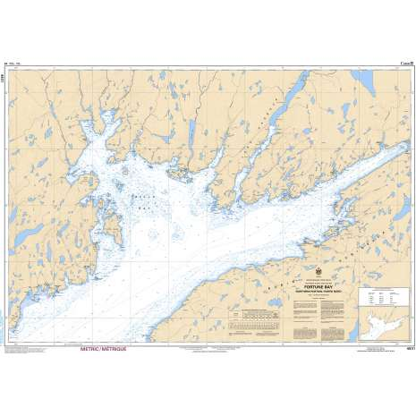 Atlantic Region Charts :CHS Chart 4831: Fortune Bay: Northern Portion / Partie Nord