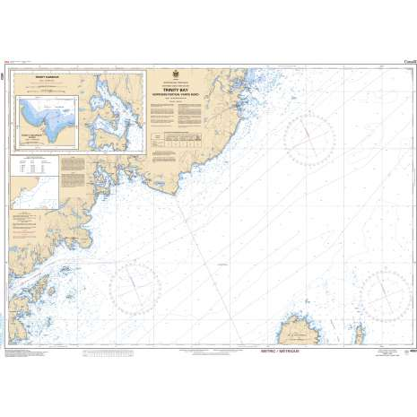 Atlantic Region Charts :CHS Chart 4853: Trinity Bay - Northern Portion/Partie Nord