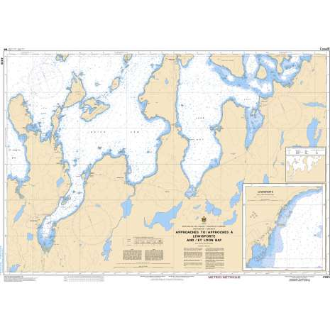 Atlantic Region Charts :CHS Chart 4865: Approaches to/Approches à Lewisporte and/et Loon Bay