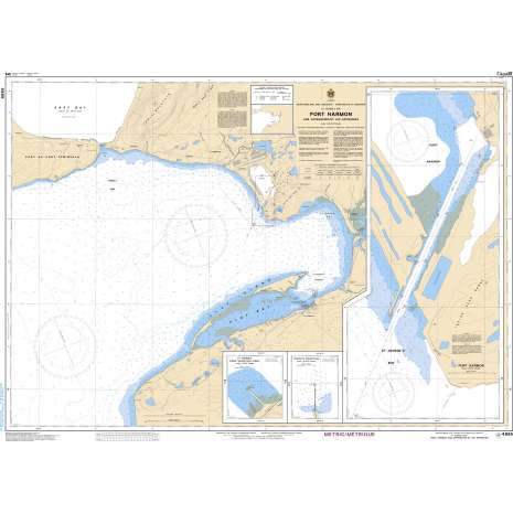 Atlantic Region Charts :CHS Chart 4885: Port Harmon and Approaches/et les approches
