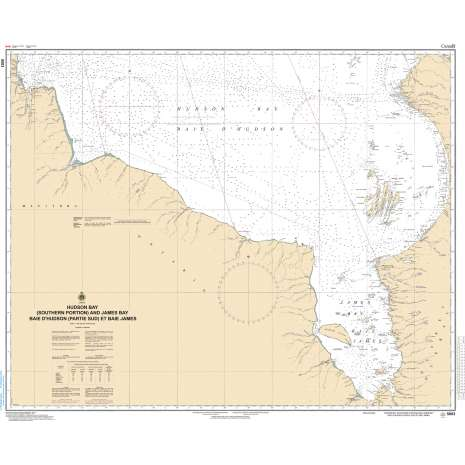 Central and Arctic Region Charts :CHS Chart 5003: Hudson Bay (Southern Portion) and James Bay