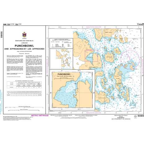 Atlantic Region Charts :CHS Chart 5080: Punchbowl Inlet and Approaches/et les approches