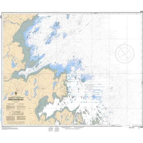 Central and Arctic Region Charts :CHS Chart 5348: Approches à/Approaches to Hopes Advance Bay