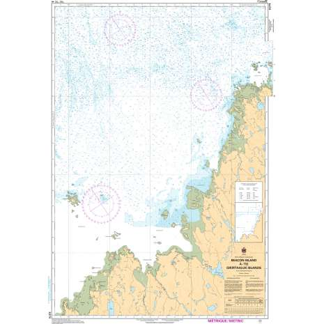 Central and Arctic Region Charts :CHS Chart 5374: Beacon Island à/to Qikirtaaluk Islands