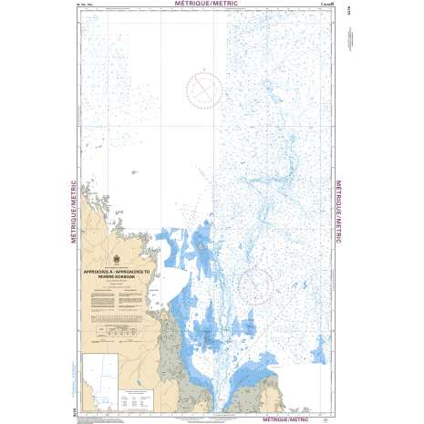 Central and Arctic Region Charts :CHS Chart 5376: Approches à/Approaches to Rivière Koksoak