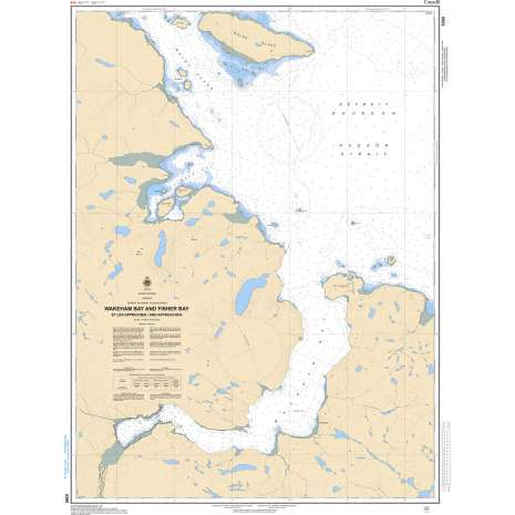 Central and Arctic Region Charts :CHS Chart 5390: Wakeham and Fishers Bay and Approaches