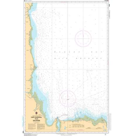 Central and Arctic Region Charts :CHS Chart 5400: Cape Churchill to/à Egg River
