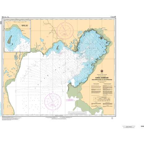 Central and Arctic Region Charts :CHS Chart 5410: Coral Harbour and Approaches/et les approches