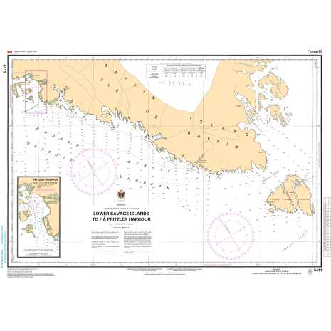 Central and Arctic Region Charts :CHS Chart 5411: Lower Savage Islands to/à Pritzler Harbour