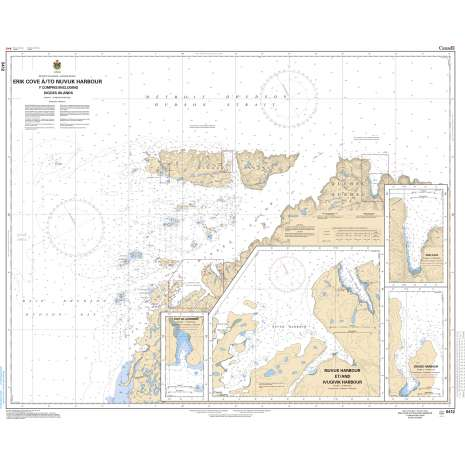 Central and Arctic Region Charts :CHS Chart 5412: Erik Cove to/à Nuvuk Harbour including/y compris Digges Islands