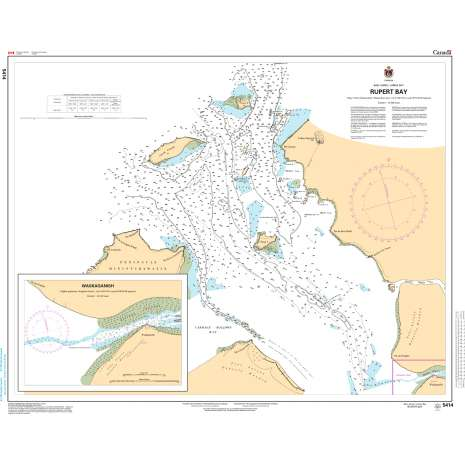 Central and Arctic Region Charts :CHS Chart 5414: Rupert Bay