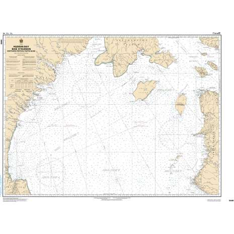 Central and Arctic Region Charts :CHS Chart 5449: Hudson Bay Baie d'Hudson, Northern Portion/Partie nord