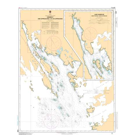 Central and Arctic Region Charts :CHS Chart 5455: Kimmirut and Approaches/et les Approches