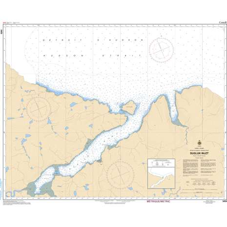 Central and Arctic Region Charts :CHS Chart 5458: Sugluk Inlet
