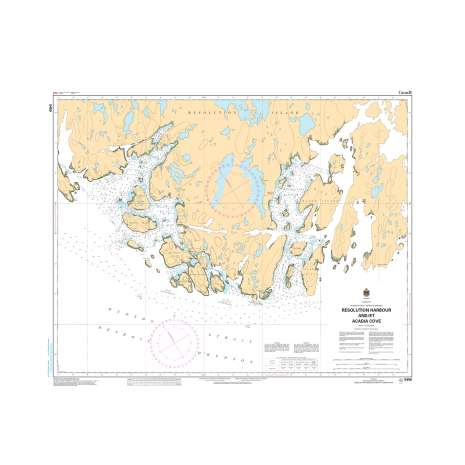 Central and Arctic Region Charts :CHS Chart 5459: Resolution Harbour and/et Acadia Cove