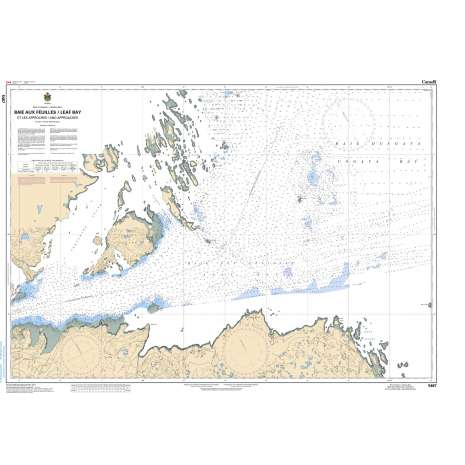 Central and Arctic Region Charts :CHS Chart 5467: Baie aux feuilles / Leaf Bay et les Approches / and Approaches