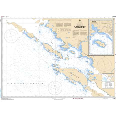 Central and Arctic Region Charts :CHS Chart 5471: Inukjuak et les Approches and Approaches