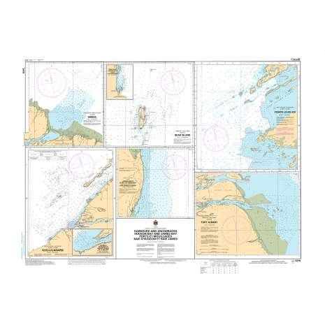 Central and Arctic Region Charts :CHS Chart 5476: Harbours and Anchorages Hudson Bay and James Bay/Ports et Mouillages Baie d'Hudson et Baie James...