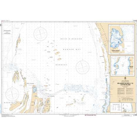 Central and Arctic Region Charts :CHS Chart 5505: Bélanger Island à/to Cotter Island