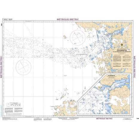 Central and Arctic Region Charts :CHS Chart 5510: Povungnituk et les approches/and Approches