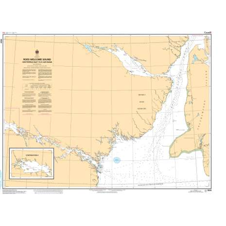 Central and Arctic Region Charts :CHS Chart 5533: Roes Welcome Sound (Chesterfield Inlet to/à Cape Munn)