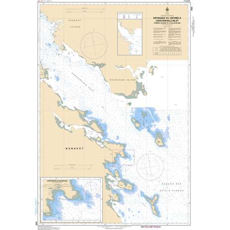 Central and Arctic Region Charts :CHS Chart 5620: Entrance to/Entrée à Chesterfield Inlet (Fairway Island to/à Ellis Island)