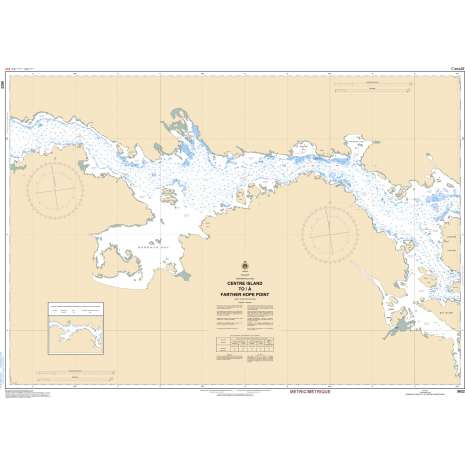 Central and Arctic Region Charts :CHS Chart 5622: Centre Island to/à Farther Hope Point
