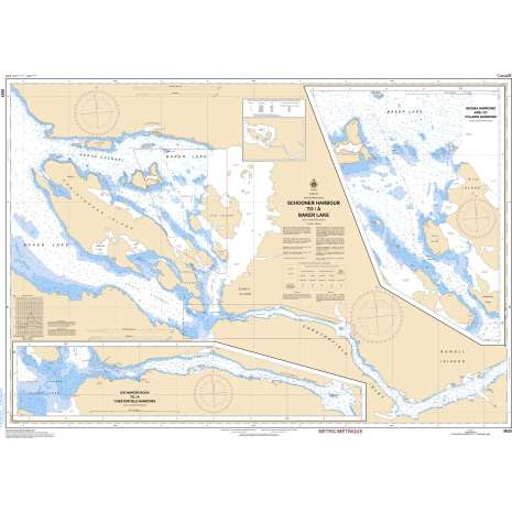 Central and Arctic Region Charts :CHS Chart 5625: Schooner Harbour to/à Baker Lake