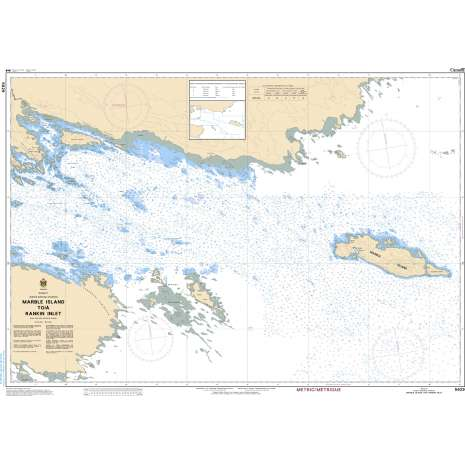 Central and Arctic Region Charts :CHS Chart 5629: Marble Island to/à Rankin Inlet