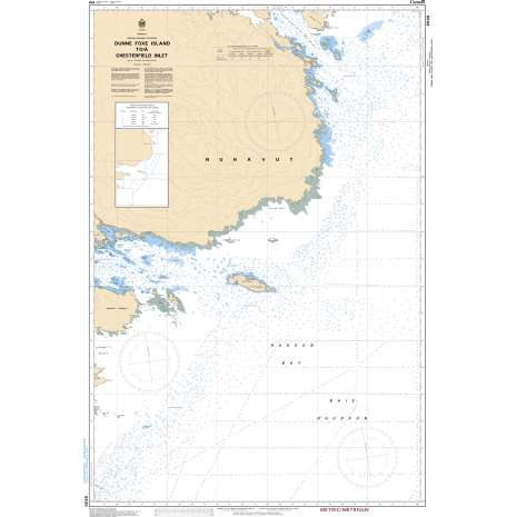 Central and Arctic Region Charts :CHS Chart 5630: Dunne Foxe Island to/à Chesterfield Inlet
