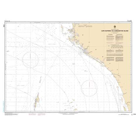 Central and Arctic Region Charts :CHS Chart 5705: Cape Dufferin to/à Broughton Island