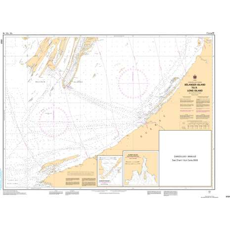Central and Arctic Region Charts :CHS Chart 5707: Bélanger Island to/à Long Island