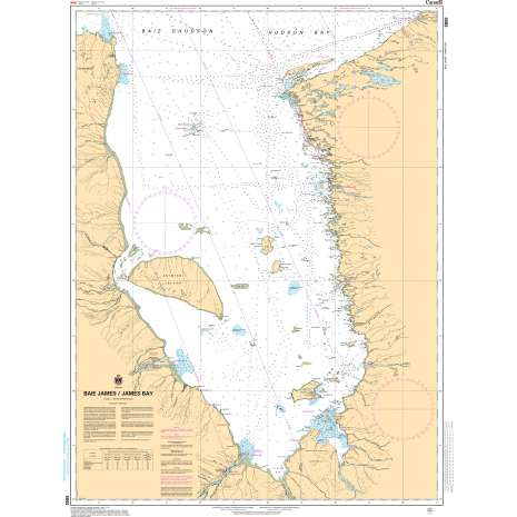 Central and Arctic Region Charts :CHS Chart 5800: Baie James/James Bay