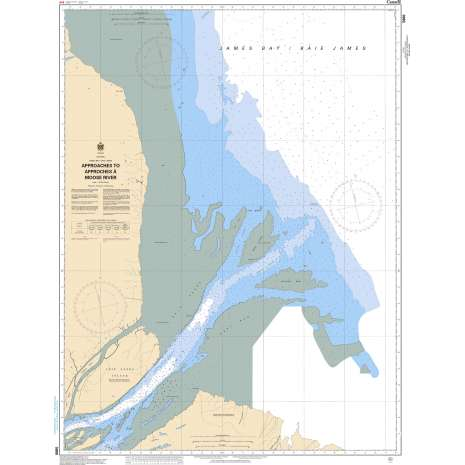 Central and Arctic Region Charts :CHS Chart 5860: Approaches to/Approches à Moose River